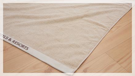 ボーダー織りバスタオル(今治工場製)